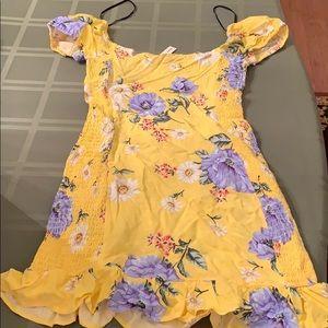 Yellow floral design dress